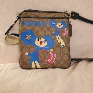 Coach Poppy Blueberry Bag